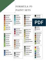 Formula P3 Paint Reference Sheet - Selection