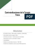 contraindicaciones de la TF