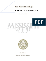 Exceptions Report