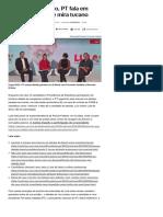 """014-08 _Em debate paralelo, PT fala em """"censura"""" a Lula e mira tucano - Notícias - UOL Eleições 2018"""