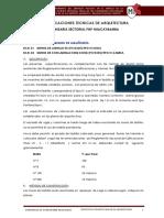Especificaciones Tecnicas Huacaybamba