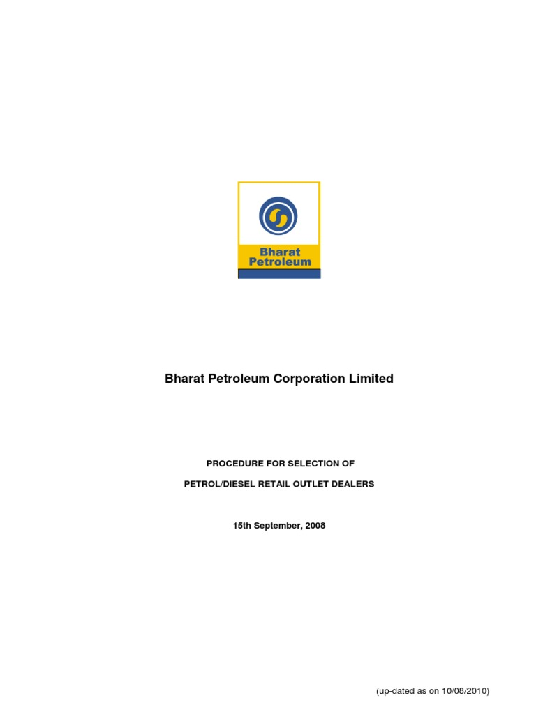 Bpcl Delear Selection Guidelines Brochure Partnership Credit