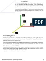 Parallel Projection and Translation