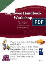 Employee Handbook Workshop FINAL PPT