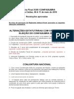 Resoluções Aprovadas Plenária Final XXIII CONFASUBRA