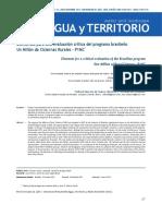 Elementos para una evaluación crítica del programa brasileño Un Millón de Cisternas Rurales - P1MC
