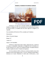 El navío Monarca, hundido en Arenas Gordas