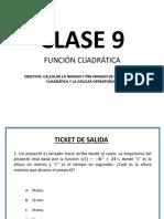 CLASE 9 Funcion Cuadràtica