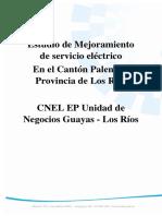 Estudio de Mejoramiento de Servicio Eléctrico