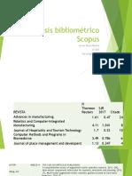 Análisis Bibliométrico Scopus James Alejo