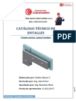 Catalogo Técnico de Entalles - Templados Limatambo