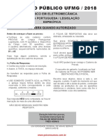 Tecnico Em Eletromecanica 2018 UFMG