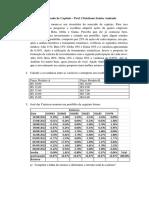 Mercado de Capitais - Lista de Exercícios 1