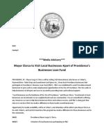 media advisory pblf