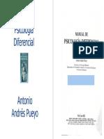 Antonio Andrés Pueyo. Manual de Psicología Diferencial
