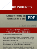 AMPARO INDIRECTO AUTO DE VINCULACIÓN A PROCESO