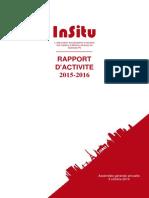 In Situ Rapport Dactivité 2016 VF 1