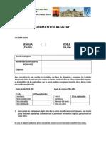 Formato de Registro Al CONGRESO 2018CANILEC