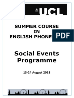 SCEP Social Events Brochure