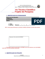Relatório Técnico Científico  de Projeto de Pesquisa