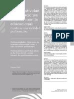 Ball- Performatividad y fabricaciones en la economía escolar. Rumbo a una sociedad performativa