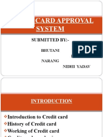 Credit Card Approval System