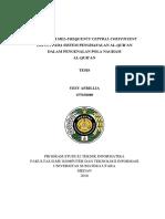 Thesis - Modifikasi Mel-frequency Ceptral Coefficient (Mfcc) Pada Sistem Penghafalan Al-qur'an Dalam Pengenalan Pola Nagham Al-qur'An