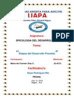 Tarea 2, De Spicologia Del Desarrollo 1.
