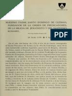 Santo Domingo de Guzman, Por Fray Paulino Alvarez OP