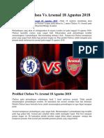 Prediksi Chelsea vs Arsenal 18 Agustus 2018