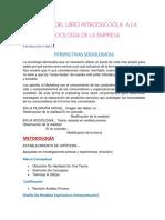 Analisis Del Libro Introduccióla a La Sociología de La Empresa