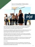 03-08-2018 - Guaymas Permanece Con Tranquilidad Gobernadora - El sol de Hermosillo