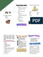 Leaflet Hipotensi