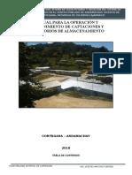 6.0 Om de Captaciones y Reservorios