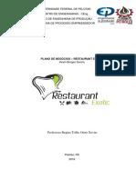 Plano de Negócios - Exotic Restaurante