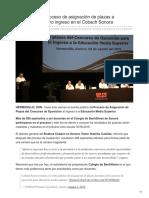 03-08-2018- Inicia proceso de asignación de plazas a docentes de nuevo ingreso en el Cobach Sonora- Expreso