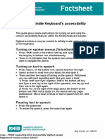 Kindle Keyboard Accessibility Guide