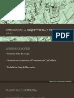 Introdução a Arquitetura e Urbanismo