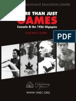 1936 Olympics Teacher's Guide