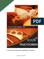 KineticXer Practitioners Chile Formulario y Programacion Septiembre 2018