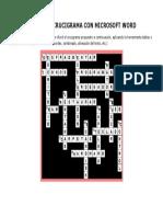 Diseño de Crucigrama en Word
