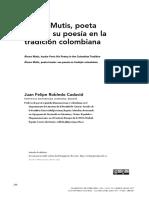 Juan Felipe Robledo Cadavid Alvaro Mutis