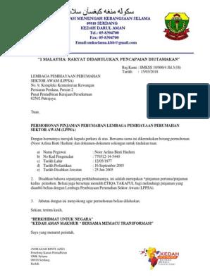 Surat Iringan Lppsa Docx