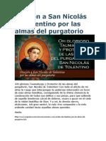 Oración a San Nicolás de Tolentino por las almas del purgatorio.doc