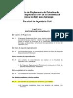 Propuesta Reglamento 2da Especialidad-17!08!2015