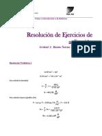 2) Resolución de Ejercicios de Aplicación. Unidad 2 (2017)