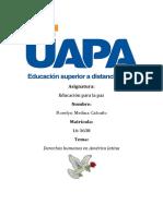 Tarea de Educacion Para La Paz