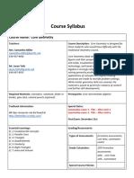 syllabus core geometry fall 2018