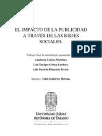 Impacto de Publicidad en Redes Sociales.