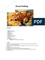 Resep Bread Pudding